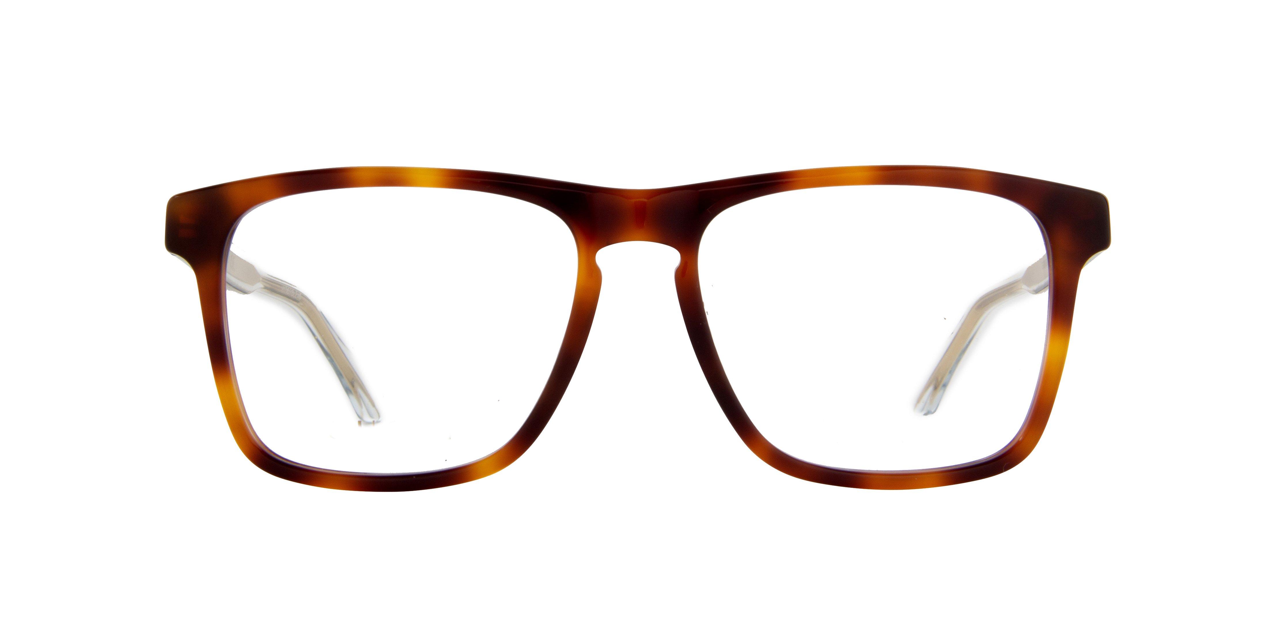 Gucci Clear Rectangular Eyeglasses Gg0561o002 54 In Brown
