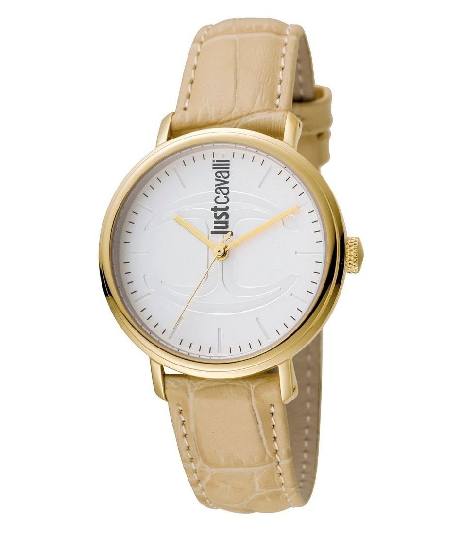 Just Cavalli Cfc Silver Dial Ladies Watch Jc1l012l0035 In Gold
