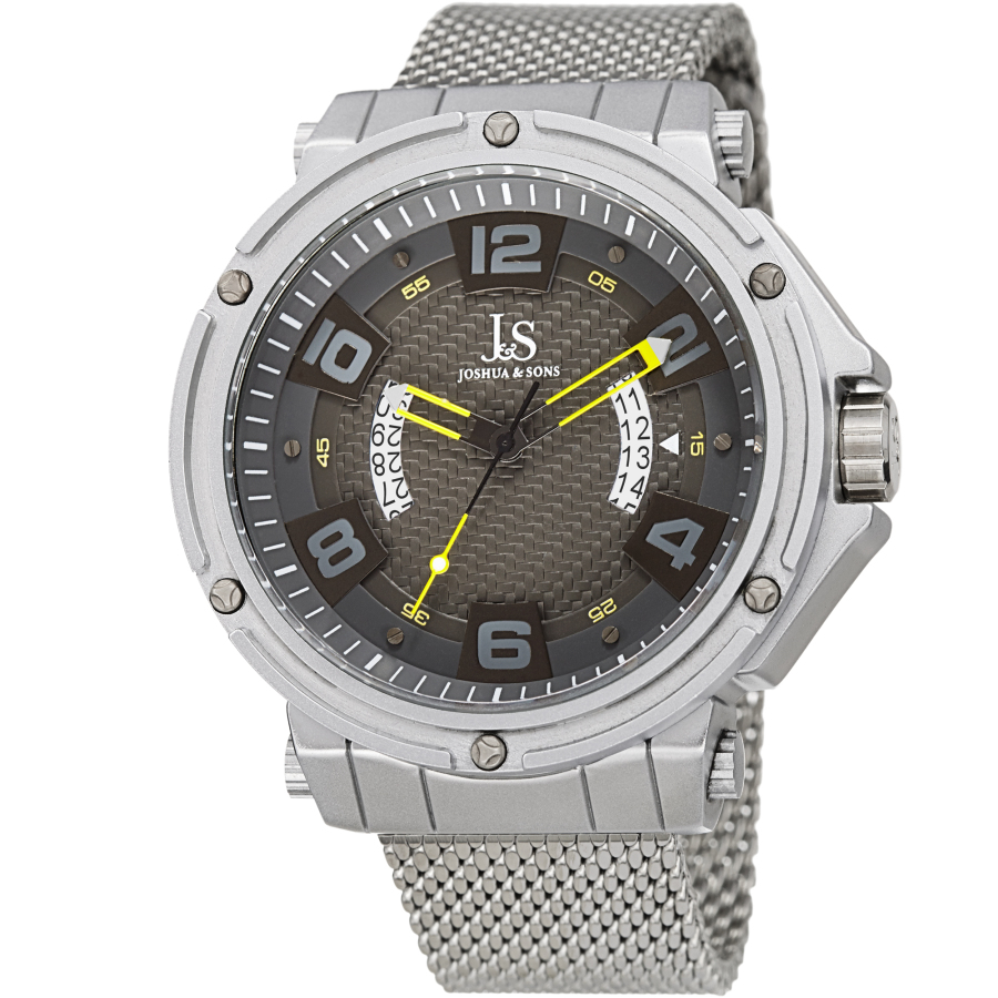 Joshua And Sons Quartz Grey Dial Mens Watch Jx132yl In Metallic