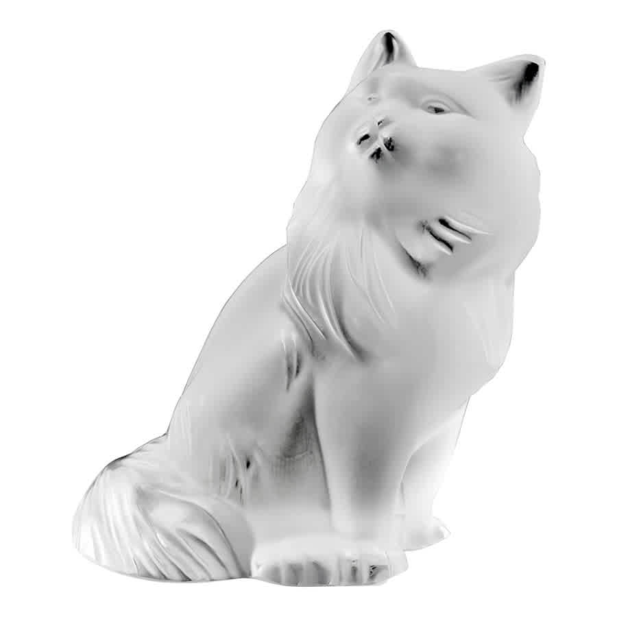 Lalique Crystal Heggie Cat 11796 In White