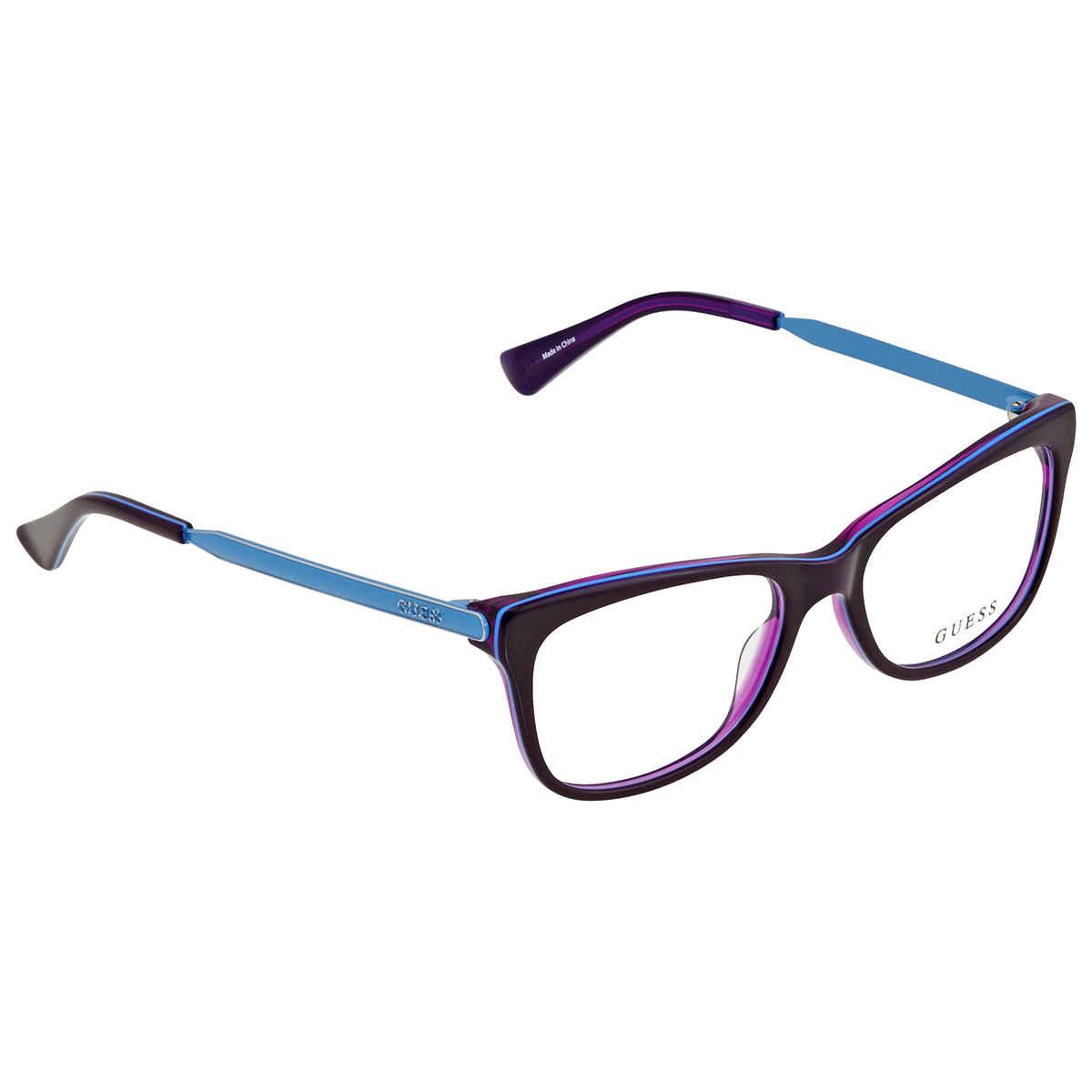 Guess Unisex Purple Round Eyeglass Frames Gu248708151