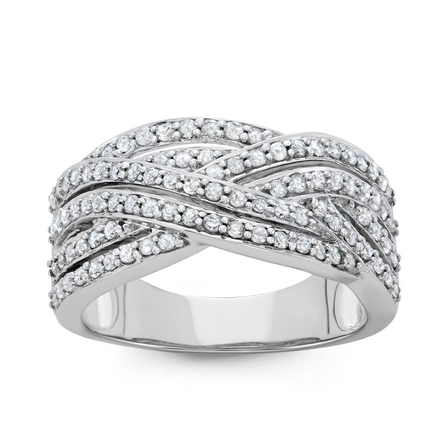 Hetal Diamonds 3/4 Cttw 10k White Gold Diamond Ring (h-i In Gold Tone,white