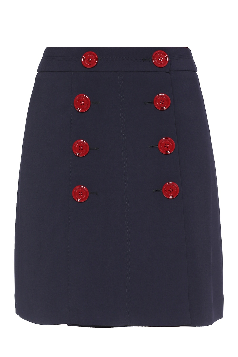 Burberry Trenchbridge Viscose A-line Skirt In Blue,red
