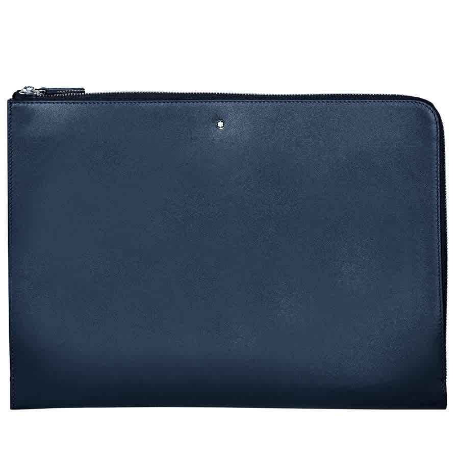 Montblanc Meisterstuck Full Grain Leather Portfolio - Navy In Blue