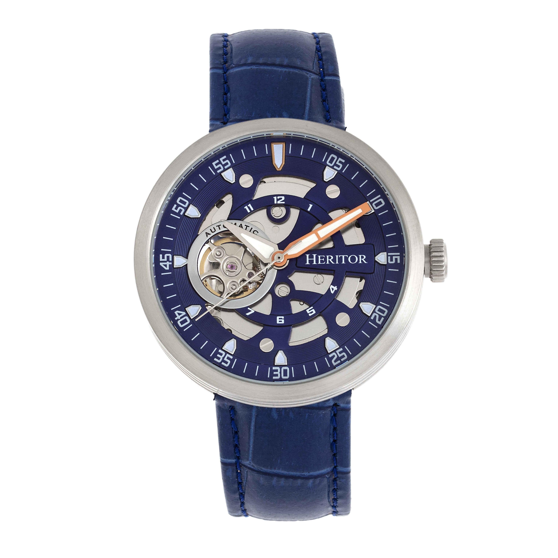 Heritor Jasper Automatic Blue Dial Mens Watch Hr8705
