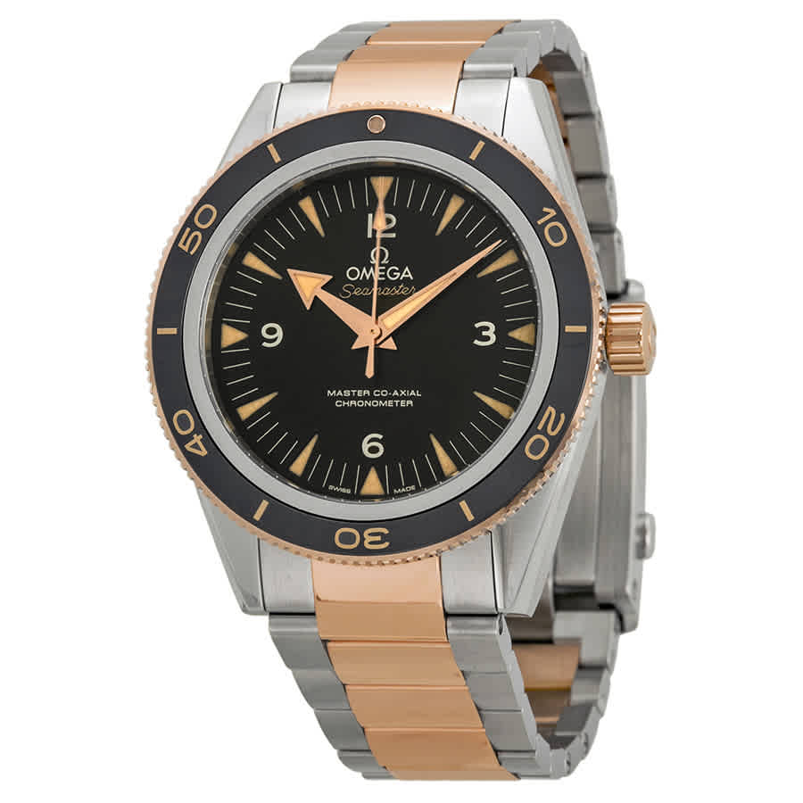 OMEGA SEAMASTER 300 AUTOMATIC BLACK DIAL MENS WATCH 233.20.41.21.01.001