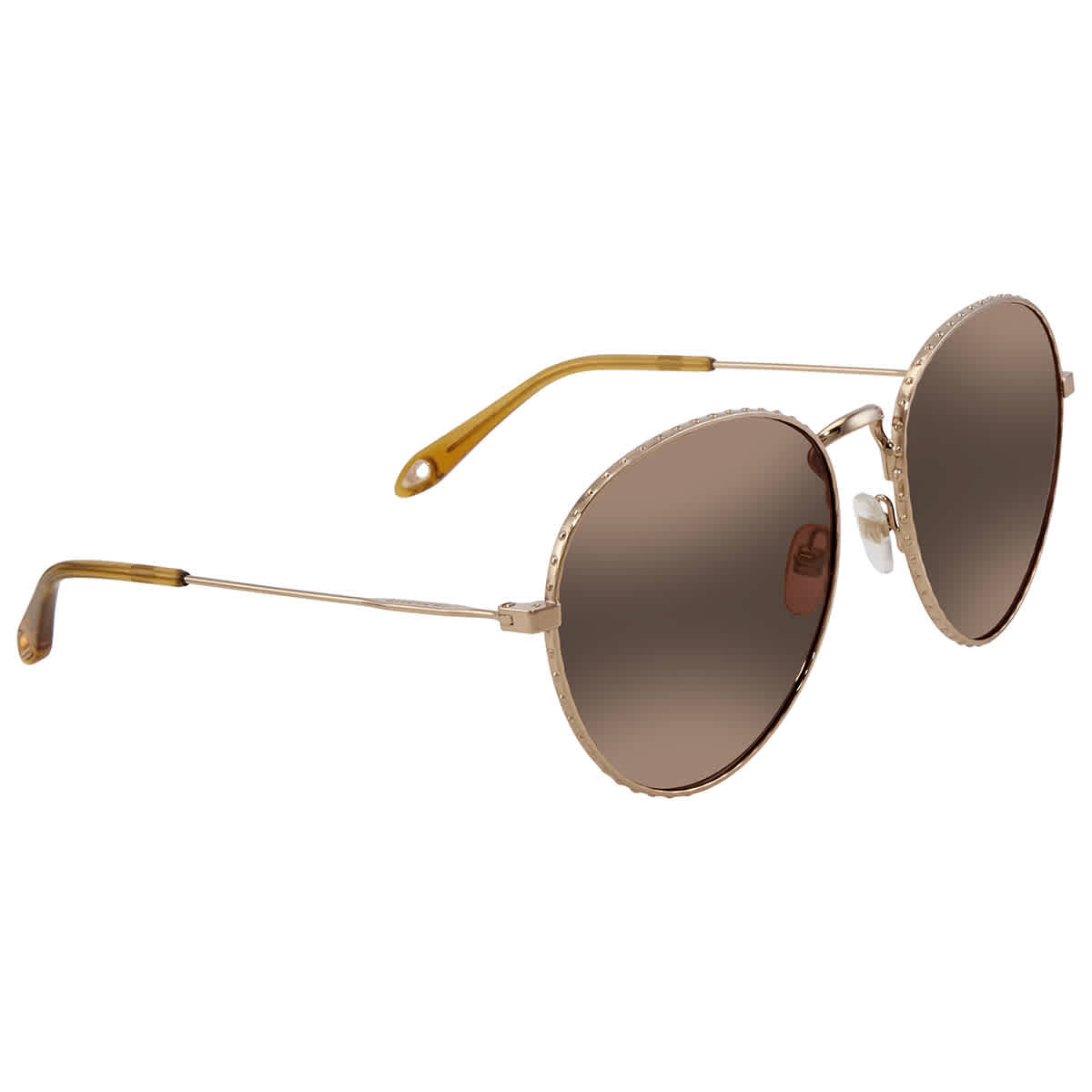 Givenchy Gold Mirror Round Sunglasses Gv7089s-006j-60 In Brown