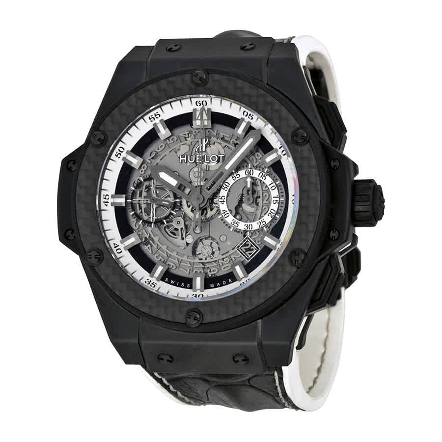 Hublot King Power Automatic Chronograph Skeleton Dial Mens Watch 701cq0112hr In Black