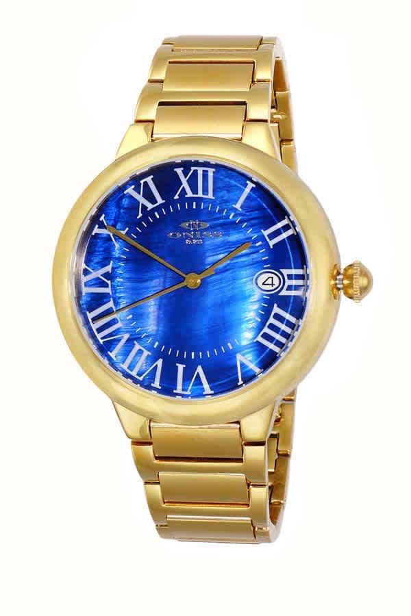 Oniss On2222 Automatic Blue Dial Mens Watch Onj2222-0mgbu In Gold