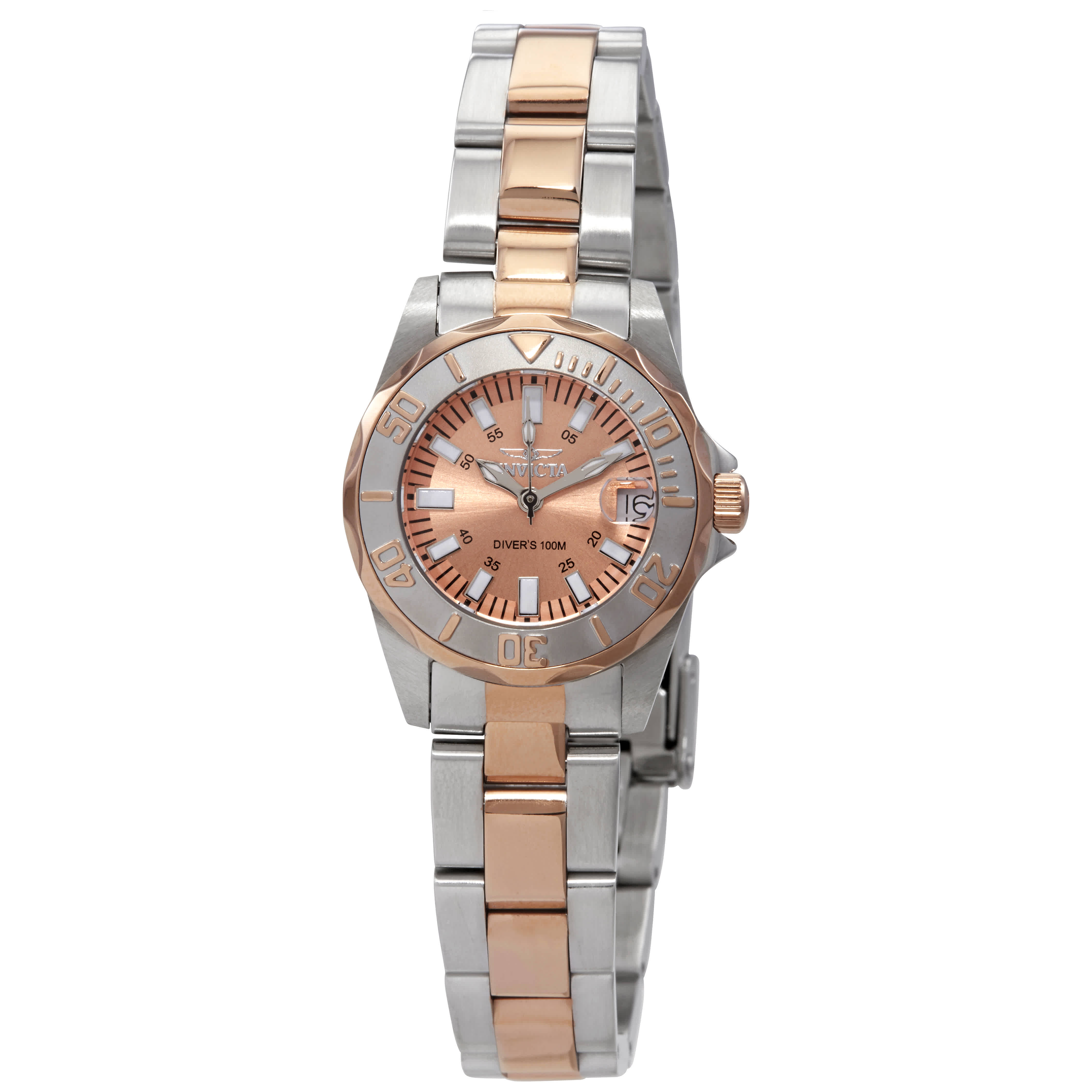 Invicta Sapphire Lady Quartz Rose Dial Two-tone Ladies Watch 7067 In Pink