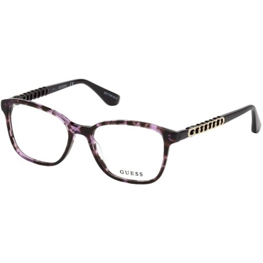 Guess Ladies Purple Square Eyeglass Frames Gu2661-s8351