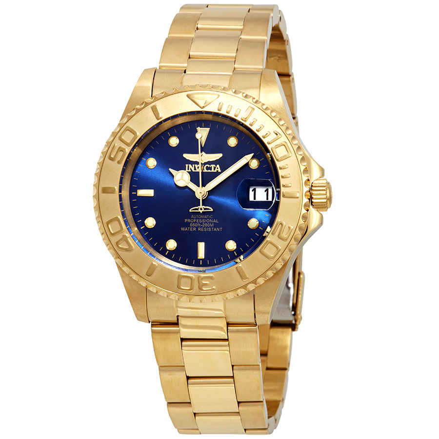 Invicta Pro Diver Automatic Blue Dial Mens Watch 26997 In Gold