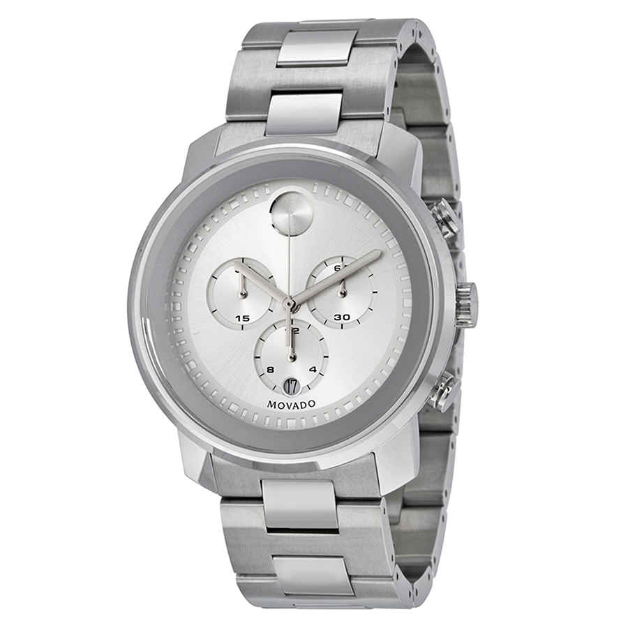 MOVADO BOLD SILVER DIAL STAINLESS STEEL MENS WATCH 3600276