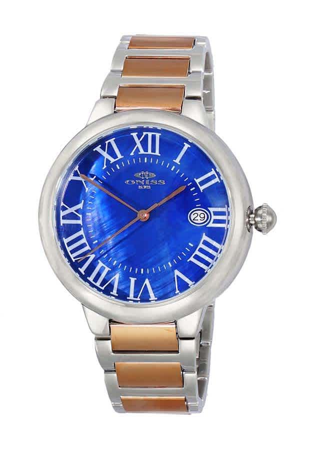 Oniss On2222 Automatic Blue Dial Mens Watch Onj2222-02trgbu