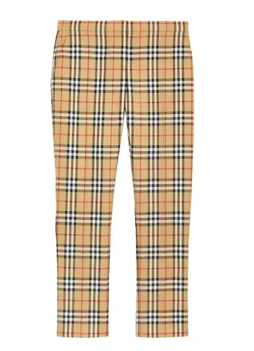 Burberry Check Print Trousers In N,a