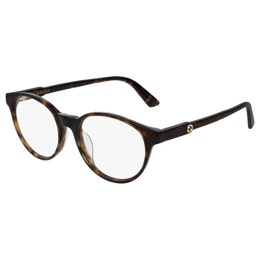 Gucci Ladies Tortoise Oval Eyeglass Frames Gg0487oa007 51 In Transparent