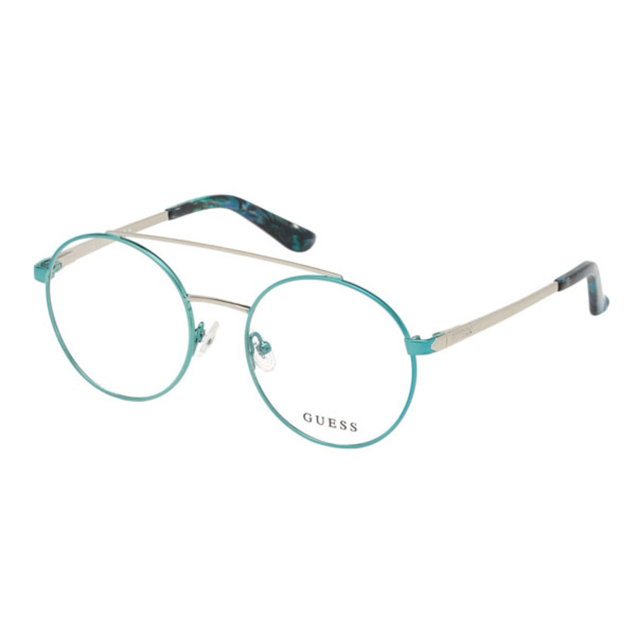 Guess Ladies Blue Round Eyeglass Frames Gu271408452