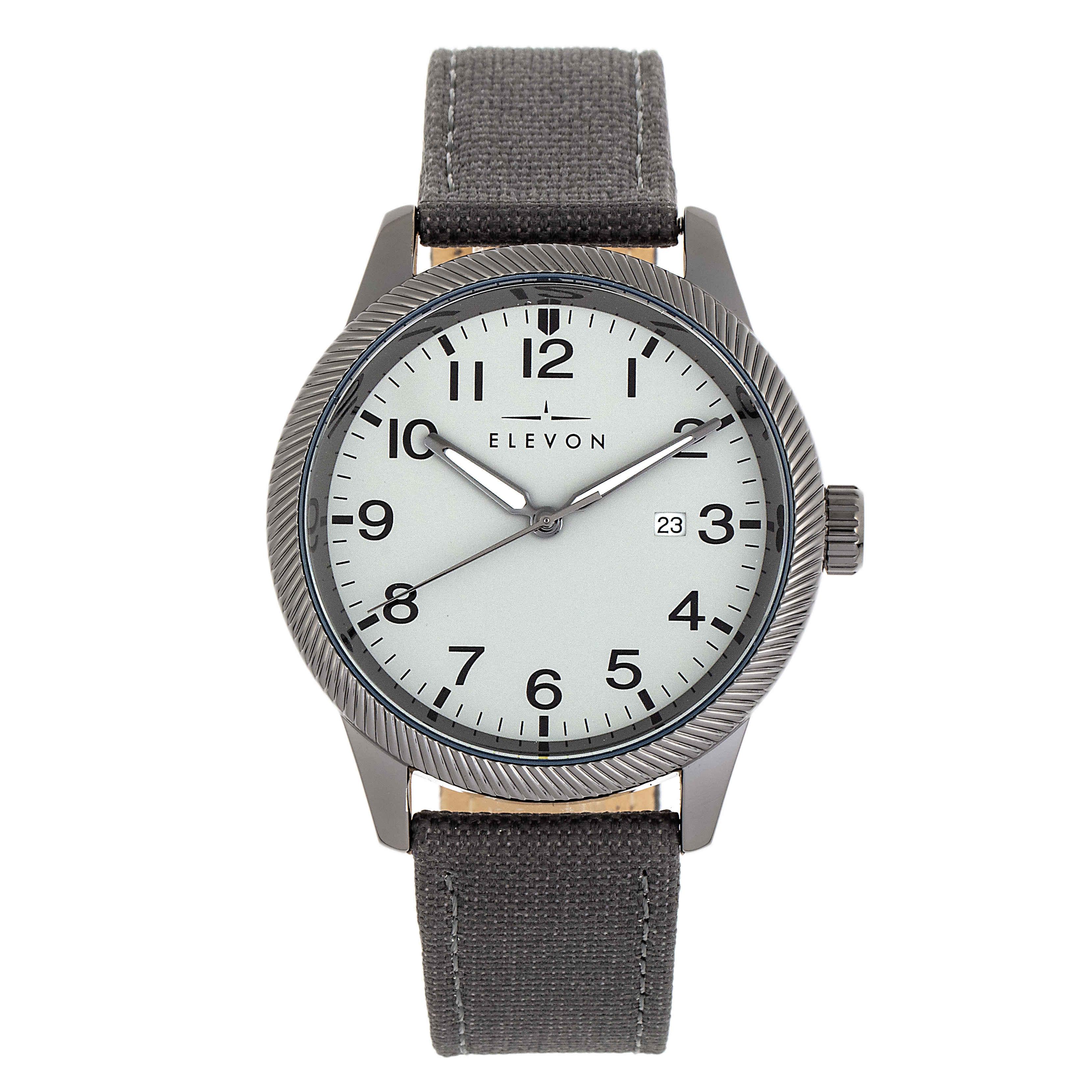 Elevon Bandit Quartz Grey Dial Mens Watch Ele118-6 In Gray