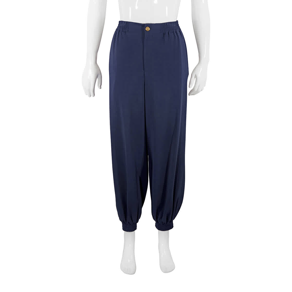 Gucci Ladies Cady Viscose Harem Style Trousers In Blue