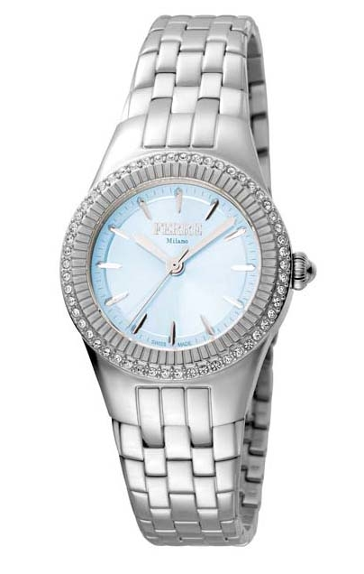 Ferre Milano Blue Mother Of Pearl Dial Ladies Watch Fm1l089m0051 In Metallic