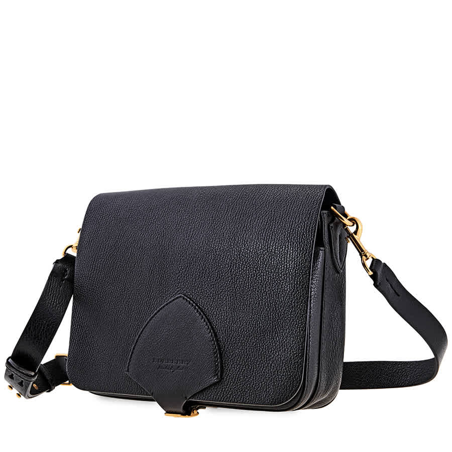 Burberry The Large Square Leather Satchel- Black