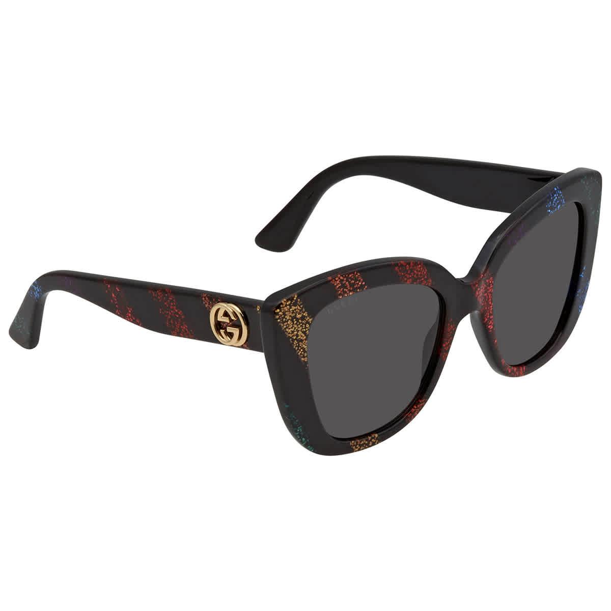 Gucci Grey Cat Eye Ladies Sunglasses Gg0327s 003 52