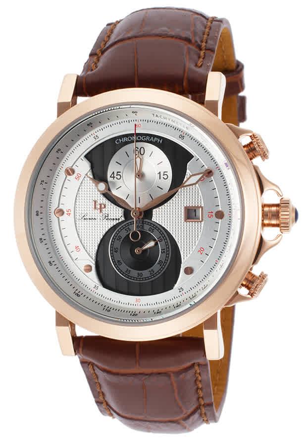 Lucien Piccard Pegasus Chronograph Mens Watch Lp-40015-rg-02s-brw In Brown