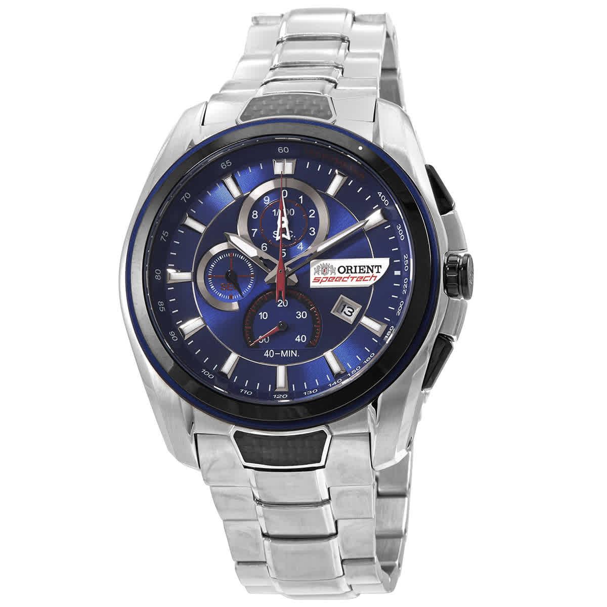 Orient Speedtech Chronograph Quartz Blue Dial Mens Watch Stz00001d