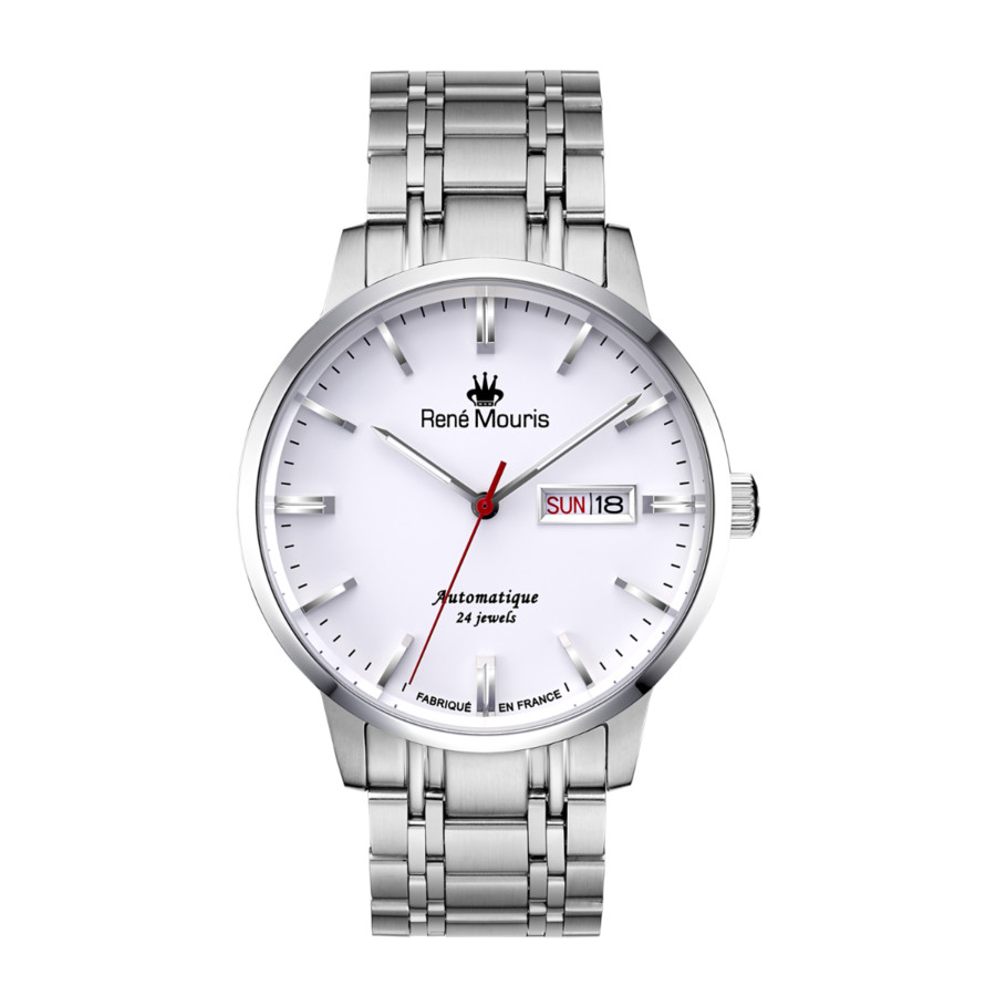 Rene Mouris Noblesse Automatic White Dial Mens Watch 10107rm1 In Metallic