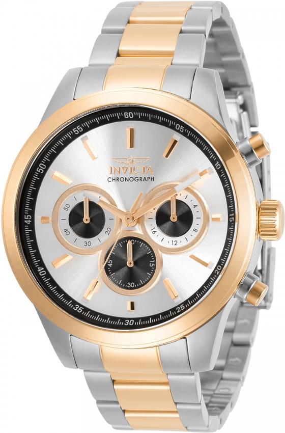 Invicta Specialty Chronograph Quartz Silver Dial Mens Watch 30983 In Gold