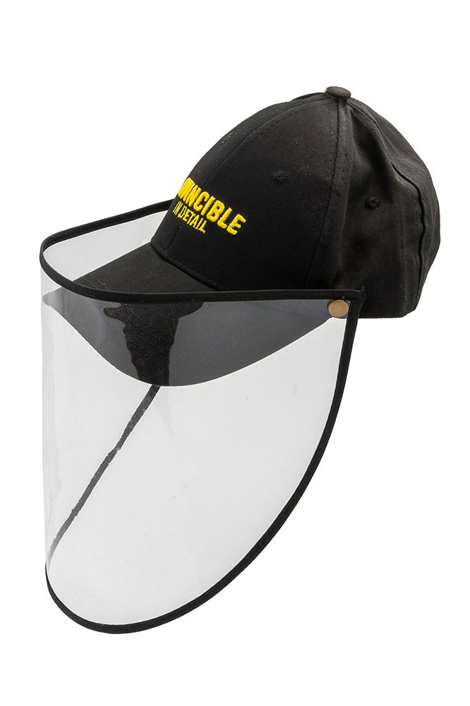 Invicta Invincible In Detail Hat & Protective Face Shield In Black