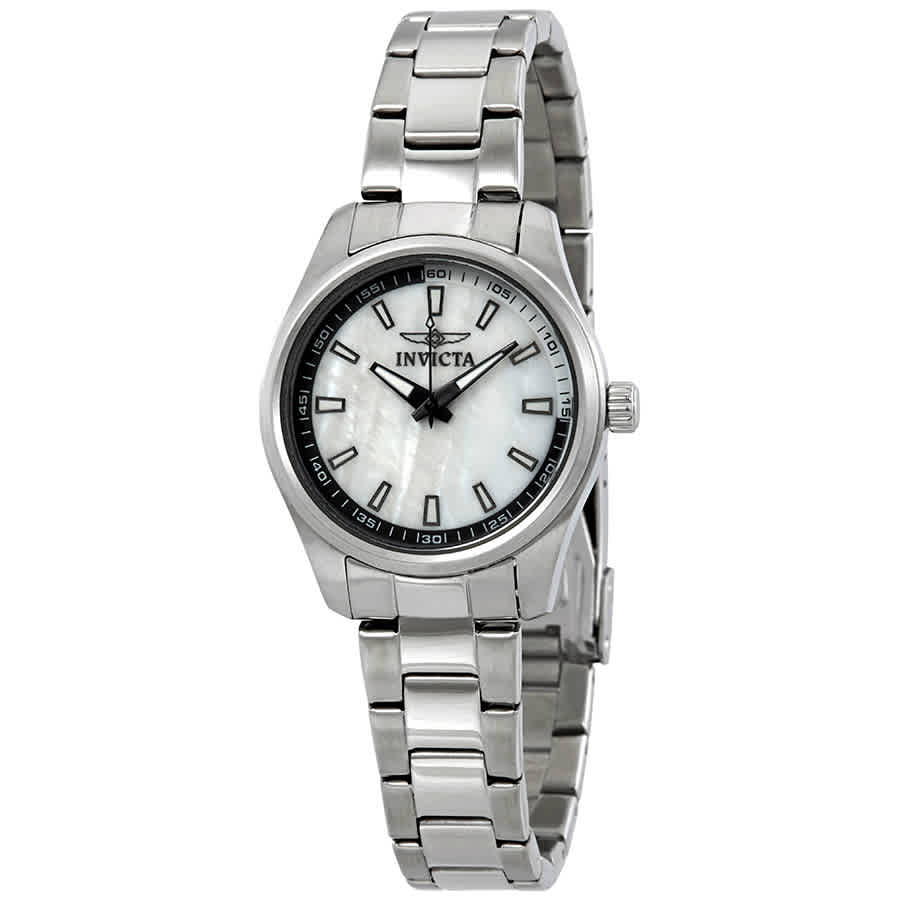 Invicta Specialty Mother Of Pearl Dial Stainless Steel Ladies Watch 12830 In Metallic