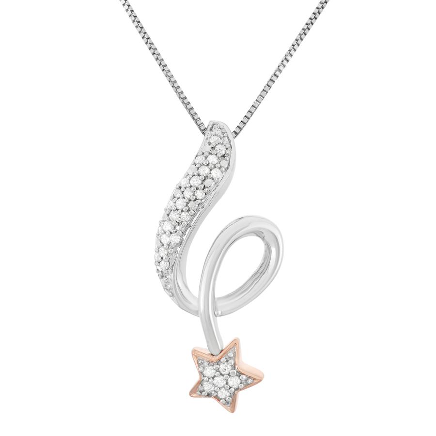 Hetal Diamonds 0.15cttw White Diamond Star Fashion Pendant (h-i In Metallic