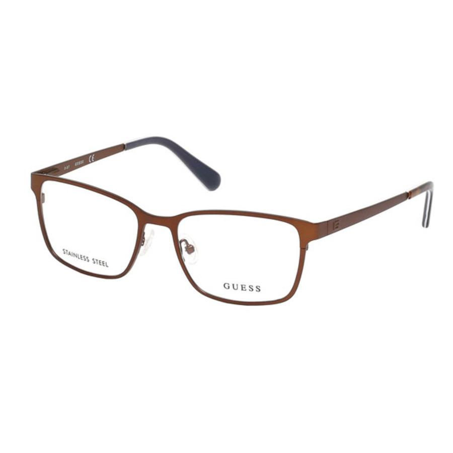 Guess Mens Brown Rectangular Eyeglass Frames Gu195804954