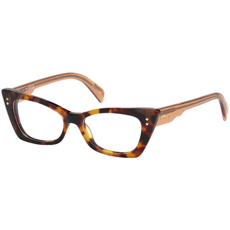 Just Cavalli Ladies Tortoise Rectangular Eyeglass Frames Jc0799 052 50