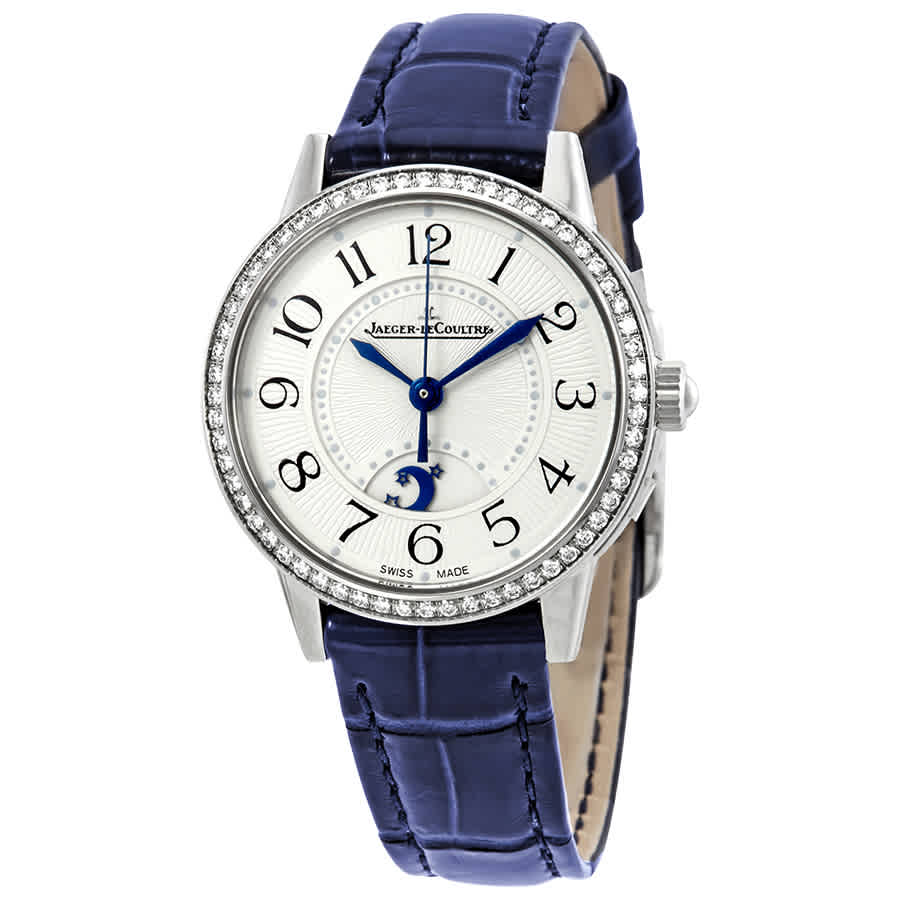 Jaeger-lecoultre Rendez-vous Night & Day Small Silver Dial Diamond Ladies Watch 3468430 In Blue