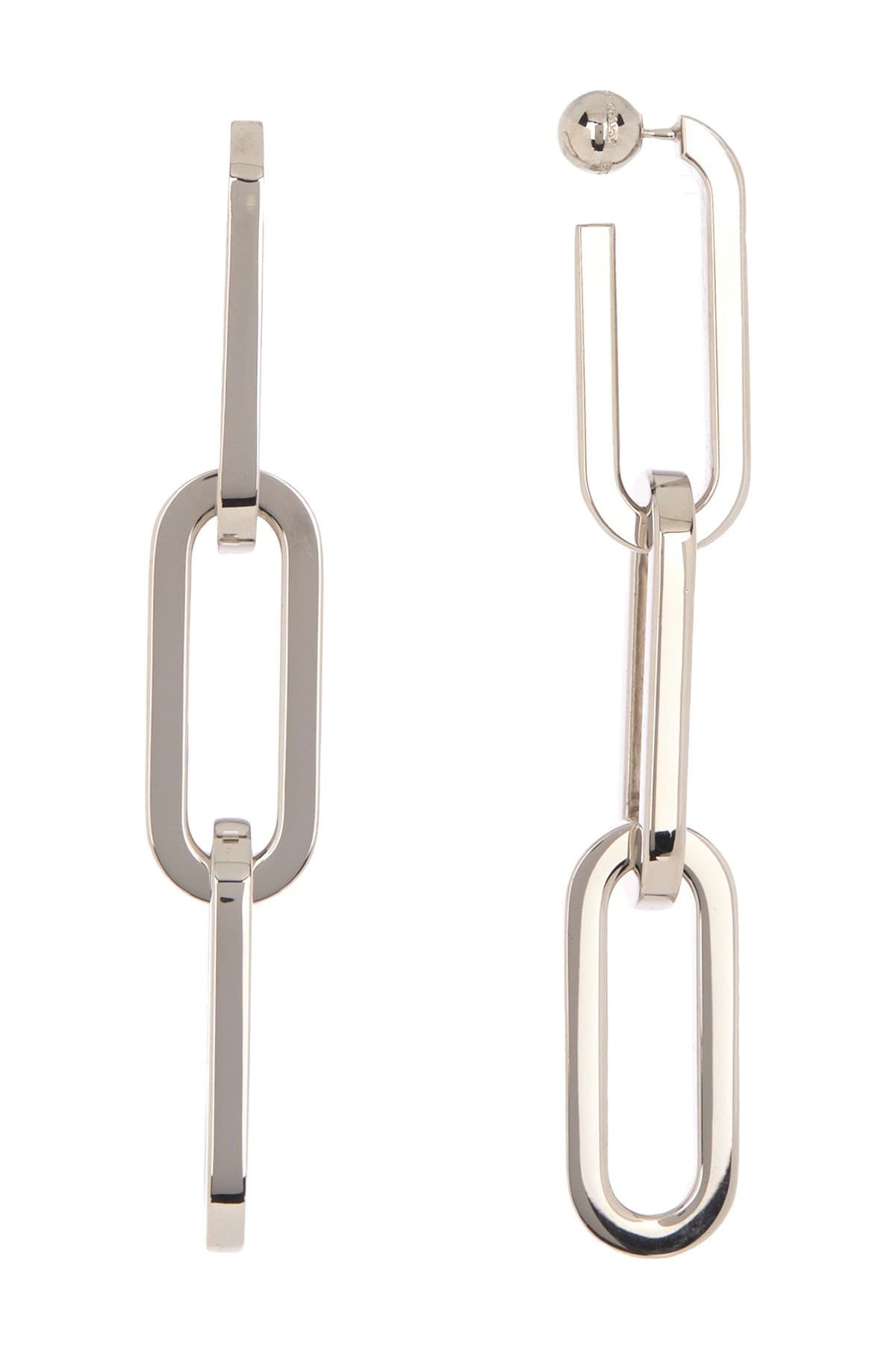 Burberry Ladies Chain Link Drop Earrings In Metallic