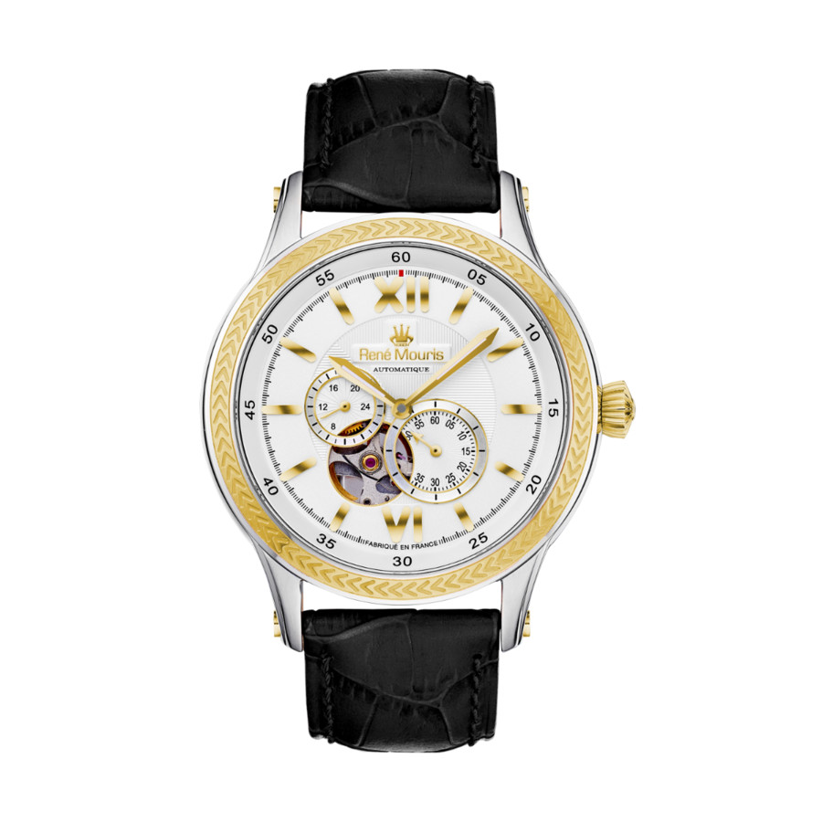 Rene Mouris Corona Chronograph Automatic White Dial Mens Watch 70105rm4 In Gold Tone,silver Tone,two Tone,white,yellow