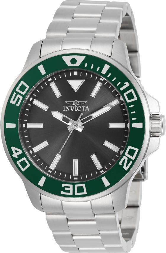 Invicta Pro Diver Quartz Charcoal Dial Mens Watch 30746 In Metallic