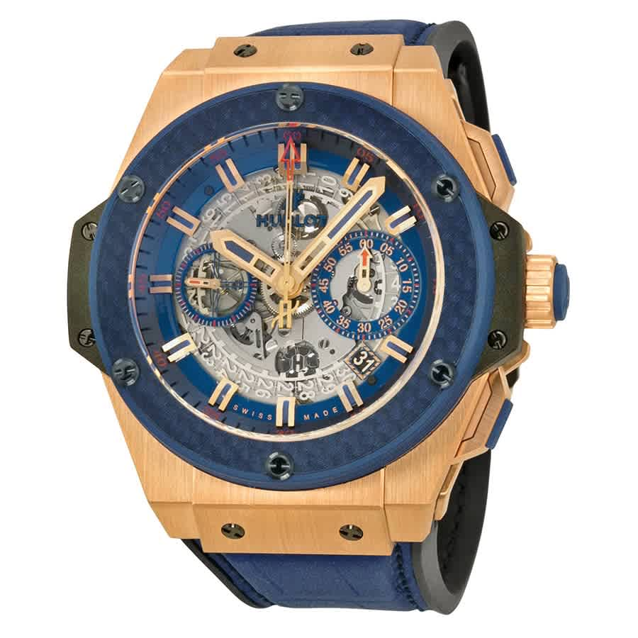 Hublot King Power Special One Automatic Chronograph Skeleton Dial Mens Watch 701oq0138grspo14 In Blue