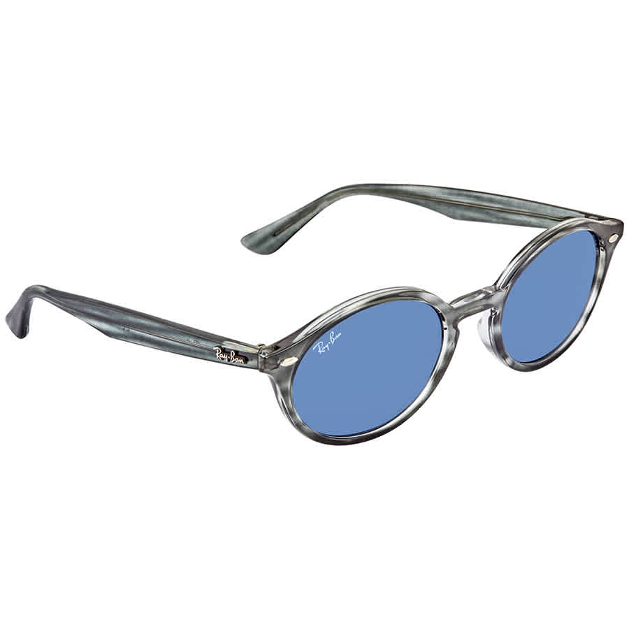 Ray Ban Dark Blue Classic Oval Sunglasses Rb4315 64328051 In Gray