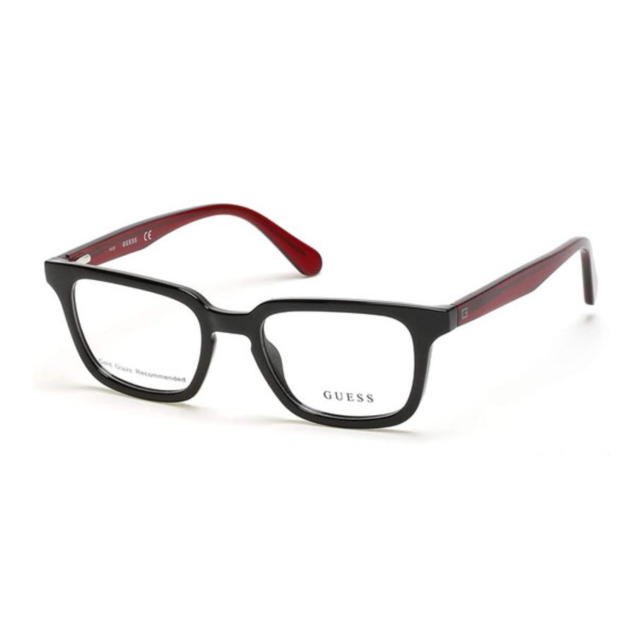 Guess Mens Black Rectangular Eyeglass Frames Gu196200552