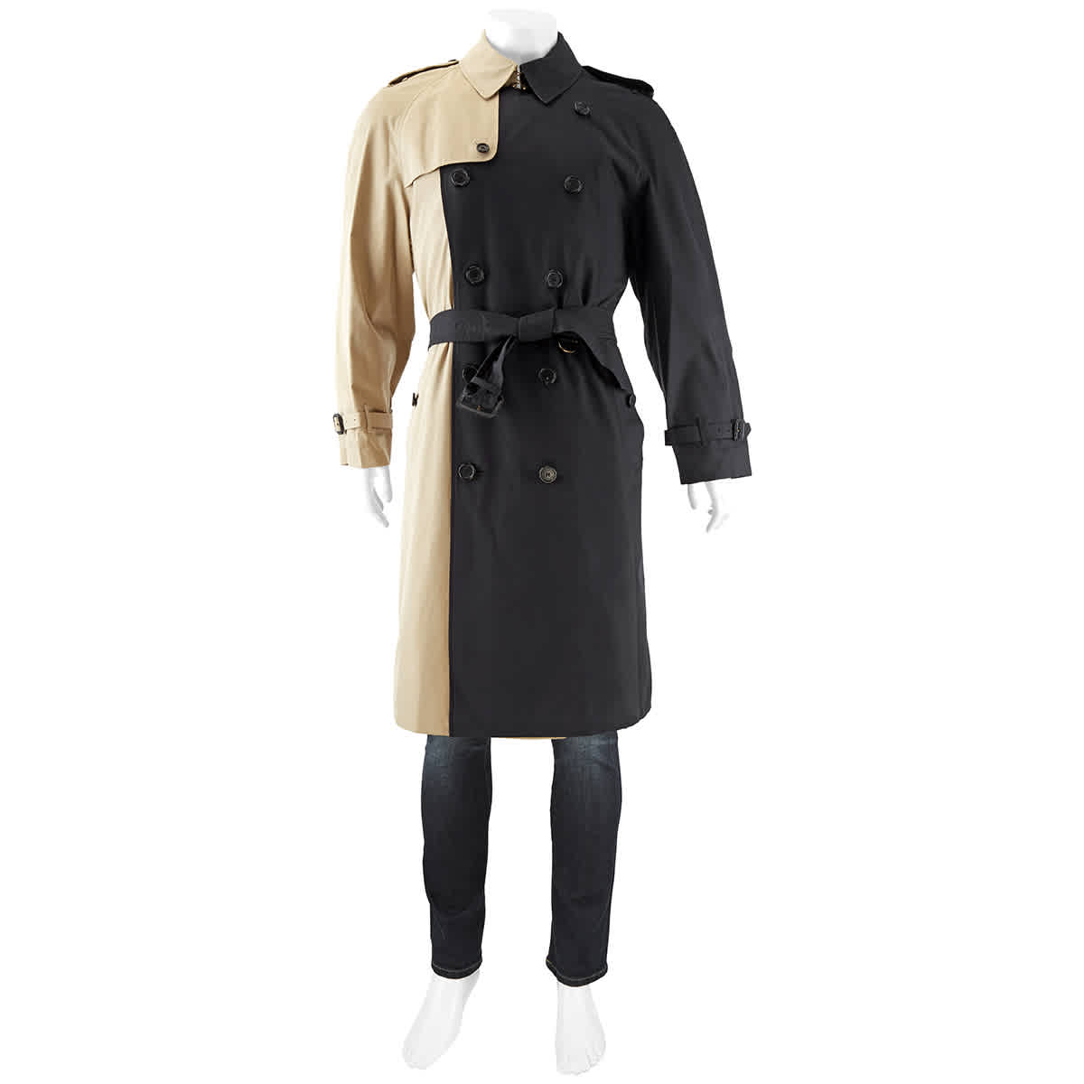 Burberry Mens Two-tone Trench Coat