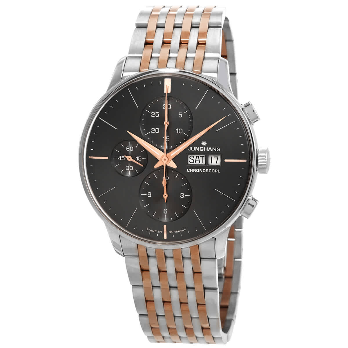 Junghans Meister Chronoscope Chronograph Automatic Mens Watch 027/4527.45 In Black