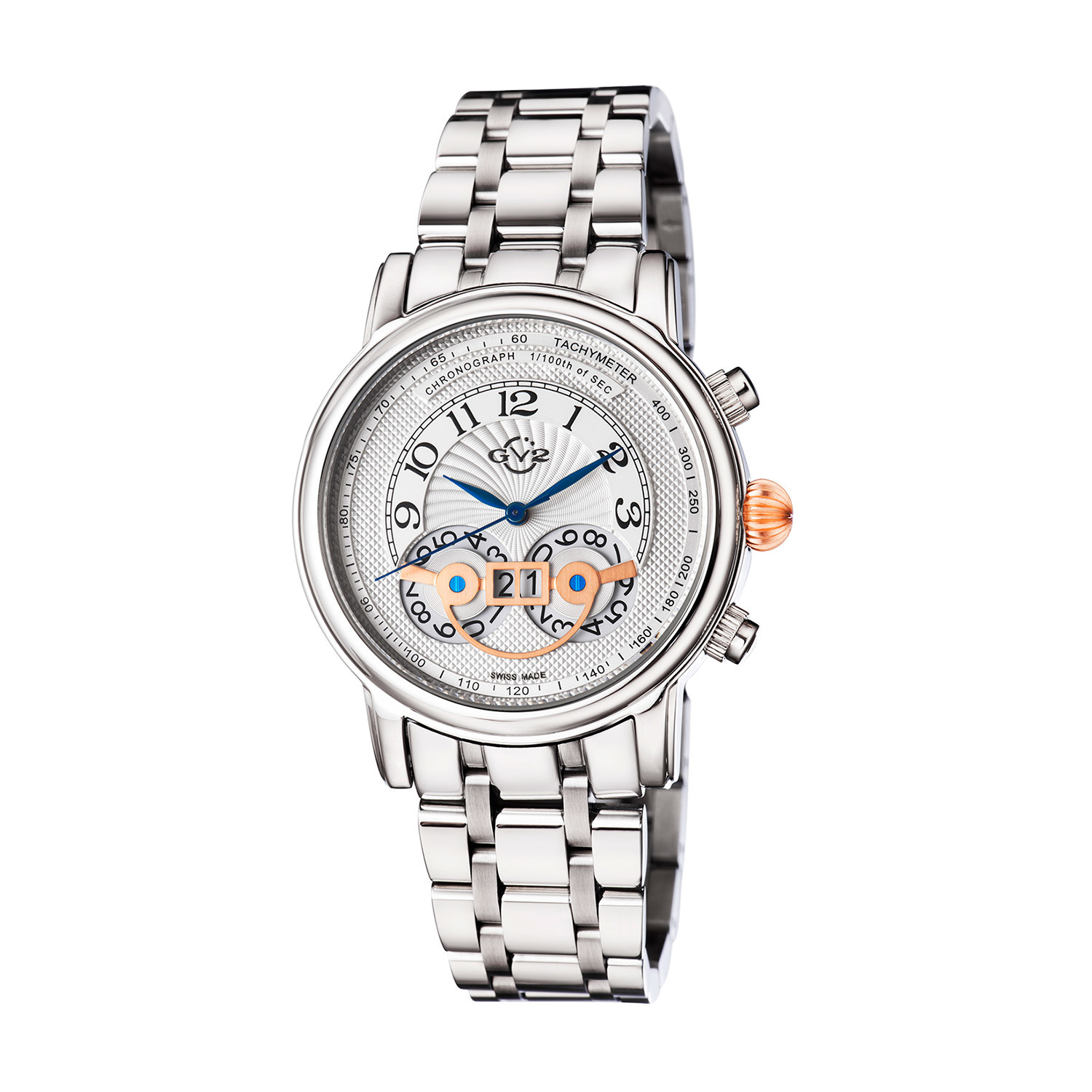 Gv2 By Gevril Montreux Chronograph Mens Watch 8100b In Metallic
