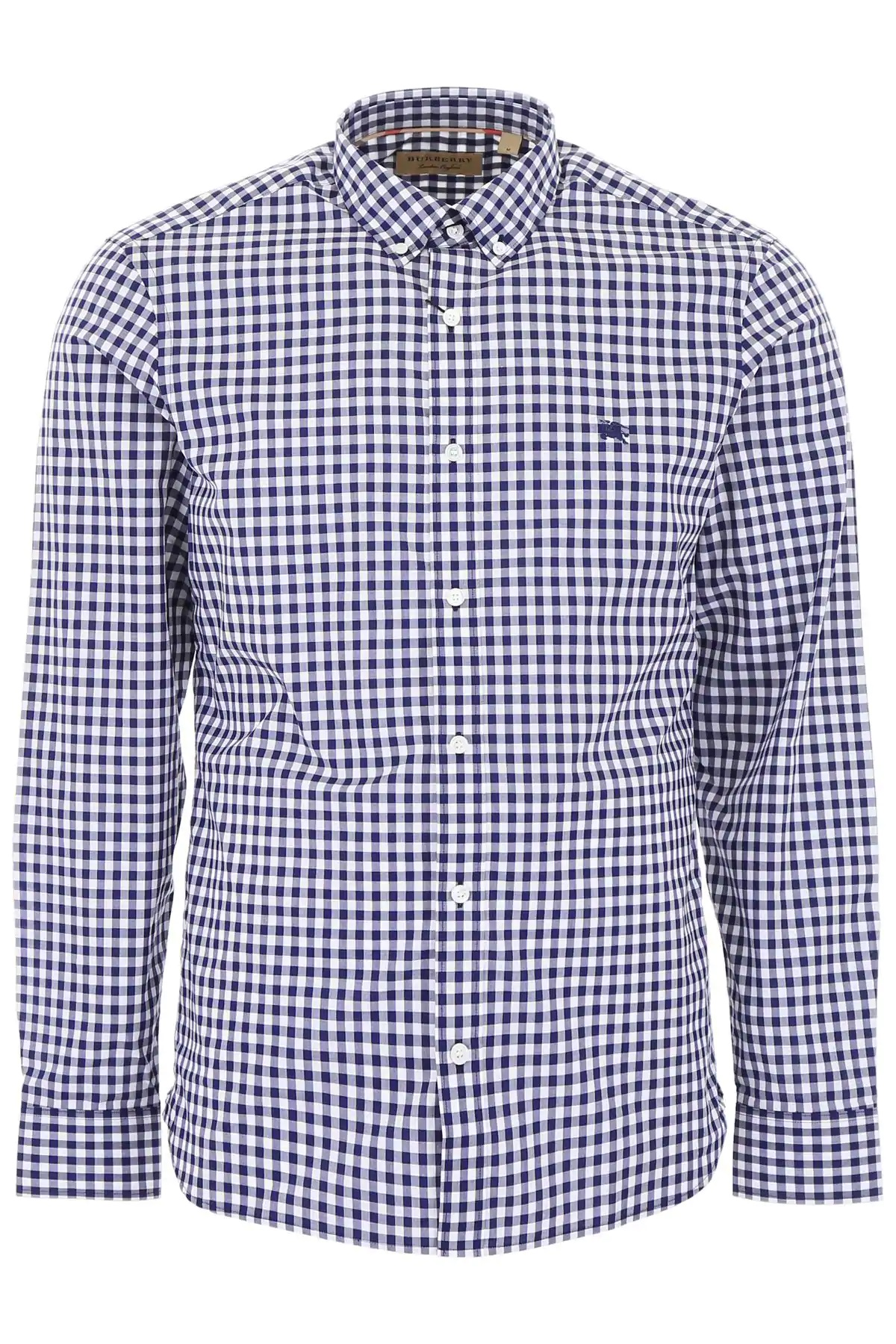 Burberry Stopford Gingham Regular Fit Button-down Shirt In Navy In Blue