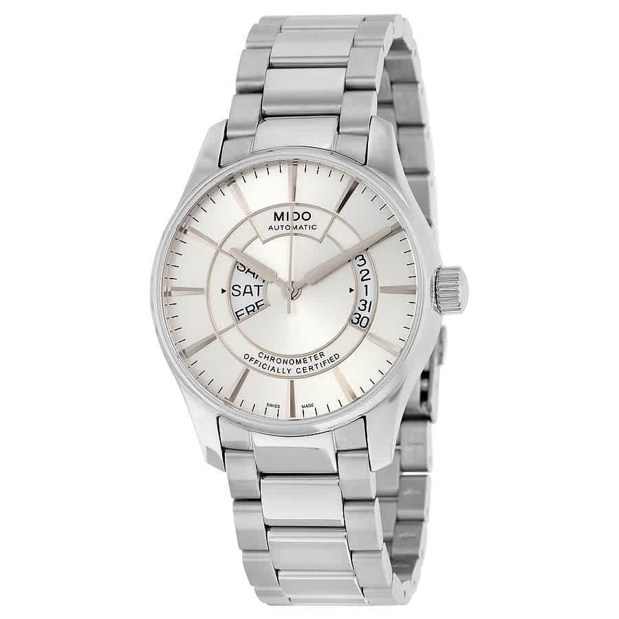 Mido Belluna Automatic Silver Dial Stainless Steel Mens Watch M0014311103102 In Metallic
