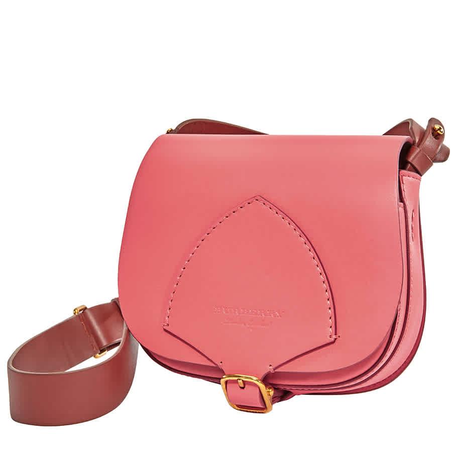 Burberry Ladies Satchel Bag Runway Bright Pink Supple Leather Mini Satchel