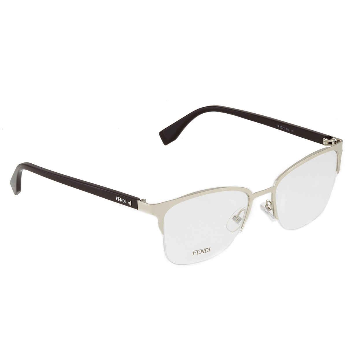Fendi Demo Square Eyeglasses Ff0321 3yg 52 In Gold Tone