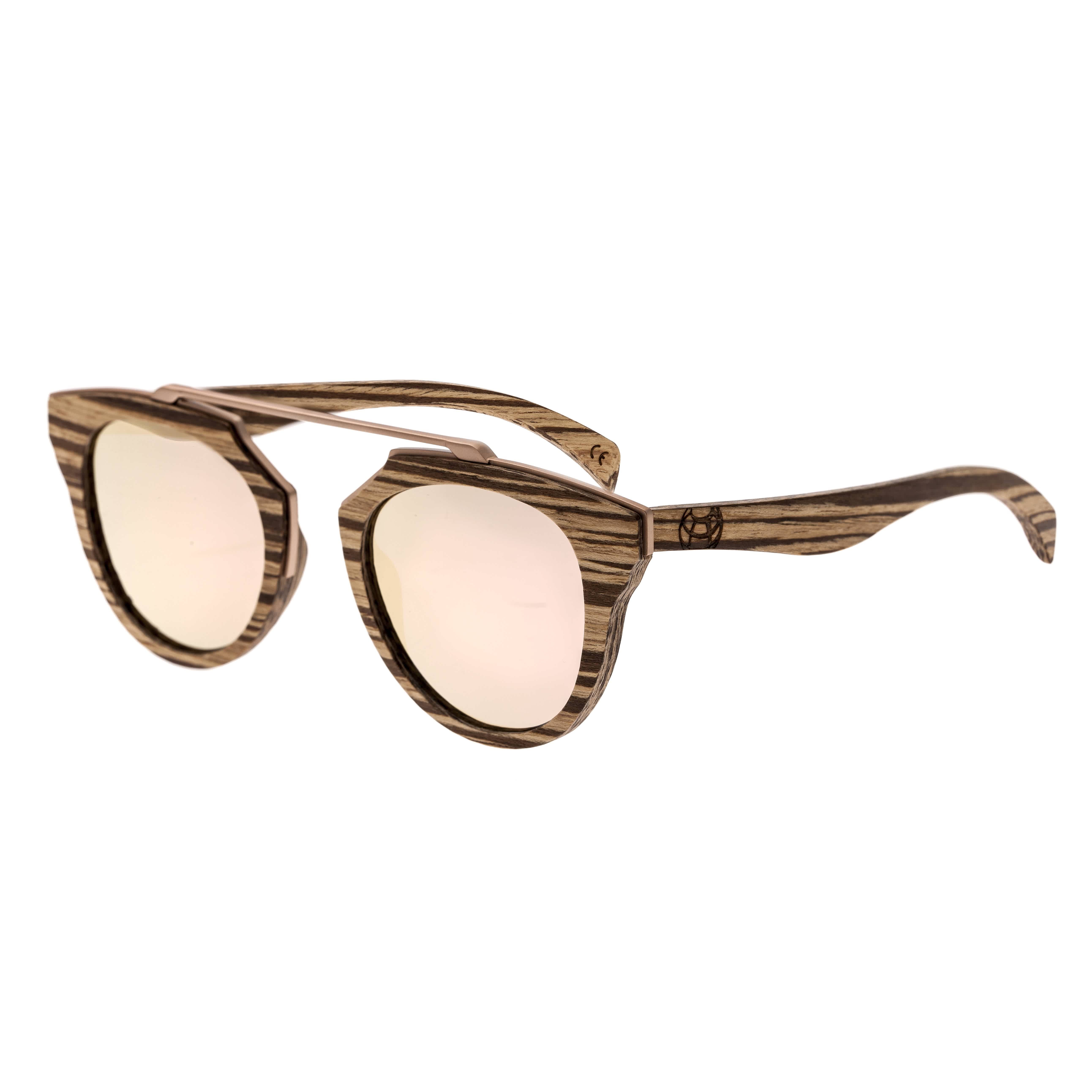 Earth Ceira Wood Sunglasses In Pink